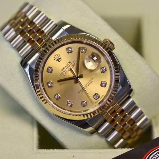 Rolex Datejust 116233 'Champagne Diamond' image 1