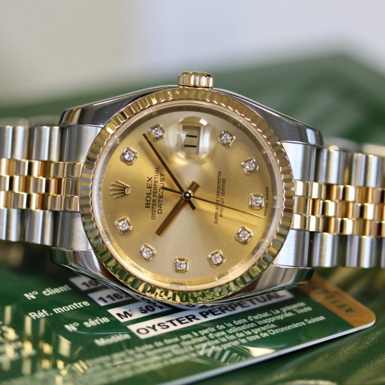 Rolex Datejust 116233 'Champagne Diamond' image 5