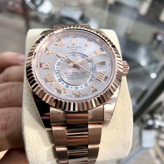 Rolex Sky Dweller 326935 '' Discontinued Sun Kiss Dial '' image 5