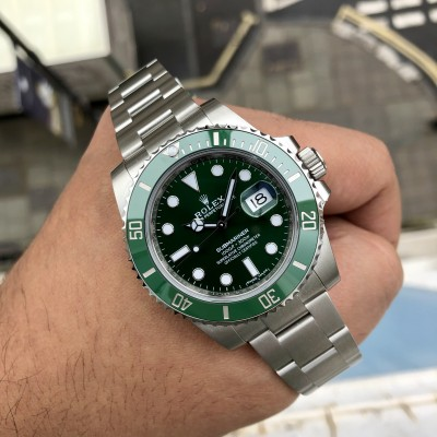Rolex Submariner 116610LV '2019 Stickered Hulk'