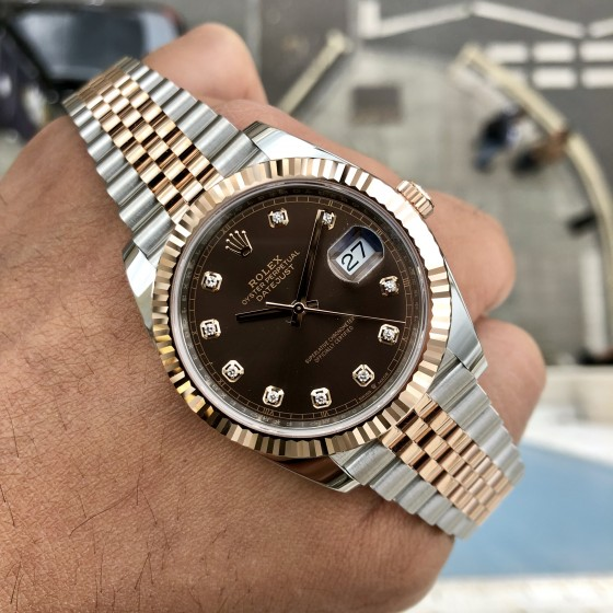 Rolex Datejust 126331 'Chocolate & Diamonds 41mm' image 1