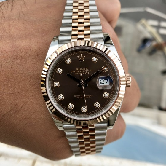 Rolex Datejust 126331 'Chocolate & Diamonds 41mm' image 5